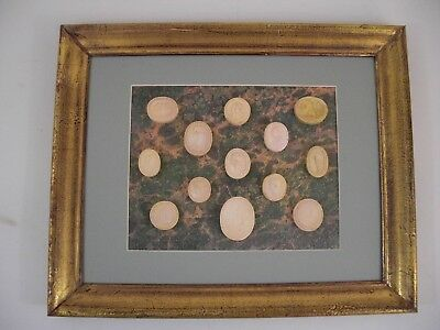Plaster Intaglio Medallion Cameo Gold Gilt Wood Frame French Grand Tour Style