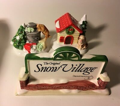 The Original Snow Village Accessories Department 56