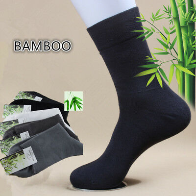 5 Pairs Mens Bamboo Casual Dress Solid Basic Sports Soft Comfort Socks Lot 7-10