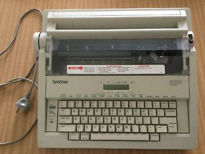 BROTHER AX500 Word Processing Typewriter in Excellent Working Condition