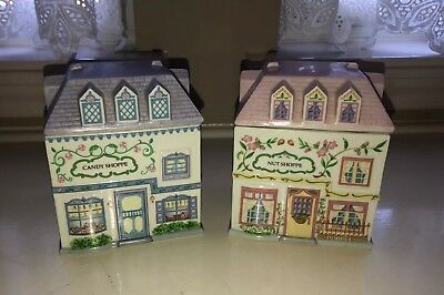 The Lenox Village Nut and Candy Shoppe Canisters 1993