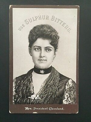 Victorian Trade Card For Sulphur Bitters w/ First Lady Francis Folsom Cleveland