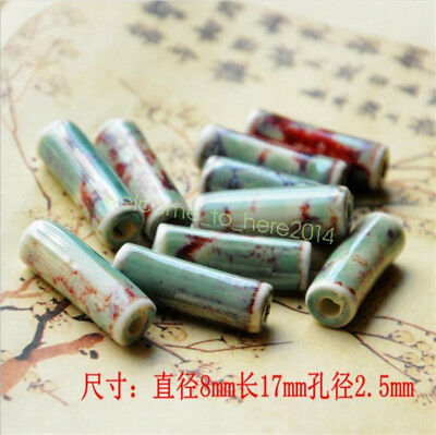 2PCS DIY Cylindrical Loose Beads Bracelet Woven Material Jewelry Finding Luxury