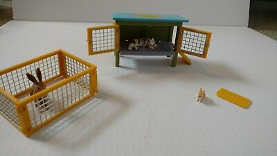 41800 Schleich Rabbit Hutch Play Set - bonus hare