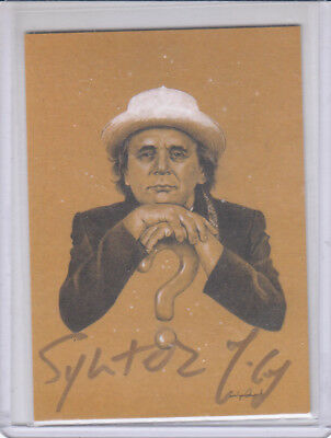 Sylvester McCoy SM1 Autograph Card in Gold Marker Dr Who