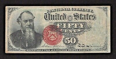 Fr # 1376 50 Cents Fourth Issue Fractional - Stanton - Good Color