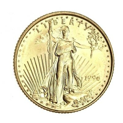 1996 $5 Gold American Eagle Five Dollar Superb GEM BU 1/10 oz Coin BEAUTY! #863