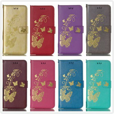 Golden Butterfly Embossing Leather Case For Huawei Honor Nova Enjoy PLAY P Smart