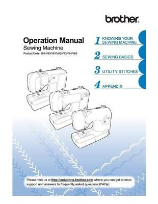 Brother CE1100PRW Sewing Machine Operation Manual User Guide Instructions COPY