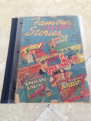 Famous Feature Stories #1, 1928, Dick Tracy, Tarzan, Please see pictures for con