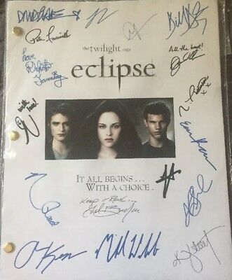 Twilight The Saga ECLIPSE Signed Script Jackson Rathbone 2010 Reproduction Copy