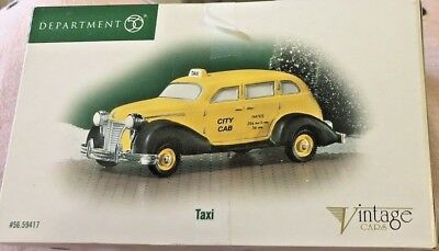 Department 56 Retired Christmas in the City Vintage Cars CITY TAXI