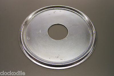 BRAND NEW SILVER COLORED METAL DIAL PAN FOR ANTIQUE KITCHEN CLOCKS -repair parts