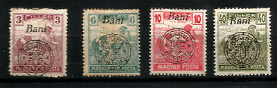 1919 Romanian Occupation Transylvania Hungary Overprinted 4 Mint Stamps Harvest