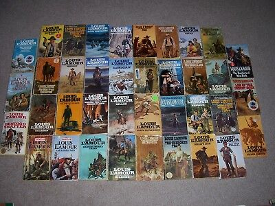 Vintage Louis L'Amour Lot of 38 Westerns Paperbacks Sacketts