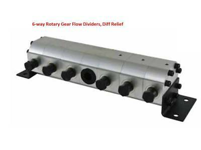 Gear Flow Divider  Hydraulic Six Way, Cylinder Synchronise Free Post Australia.