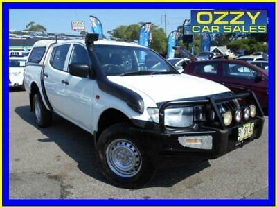 2007 Mitsubishi Triton ML GLX (4x4) White Manual 5sp M Double Cab Utility