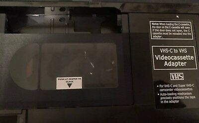 Radio Shack VHS-C to VHS Cassette ADAPTER TAPE Converter