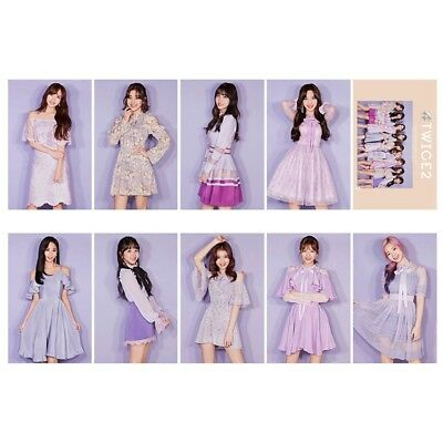 10 Pcs/set Kpop TWICE Japanese Album #TWICE2 HD Photo Card Crystal Card Stickers