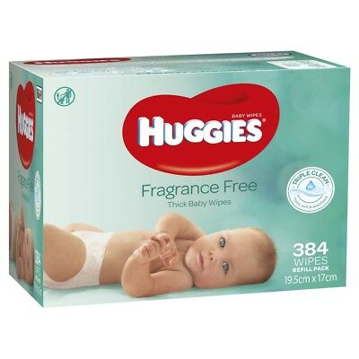 Huggies Wipes Mega Fragrance Free - 384 Pack