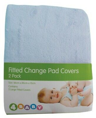 4Baby Change Pad Cover 2pk Blue