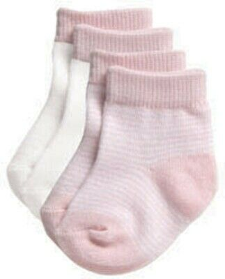 Playette Preemie Socks Pink Stripe 2 Pack