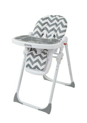 4Baby Diner Hi Lo HIgh Chair Zig Zag Grey/Grey