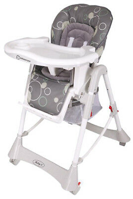Infasecure Melody Deluxe Highchair Grey Bubbles