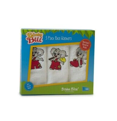 Bubba Blue - Blinky Bill Face Washers - 3 Pack