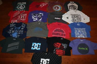 Lot 17 Mens Graphic Tees T Shirts Fox Racing Hurley Dc Shoes Tapout Size Medium