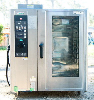 Japanese commercial combi oven, 10 trays, LP gas & single phase