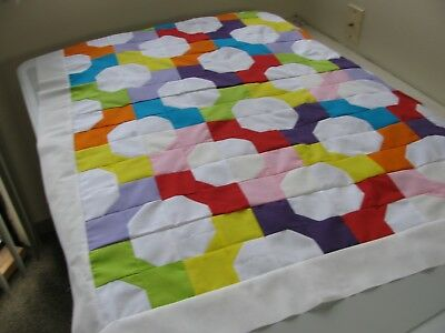 Handmade Baby Bows Finished Quilt Top Baby or toddler + binding 34 X 42