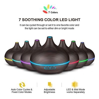 300ml LED Ultrasonic Humidifier Essential Oil Diffuser Air Purifier Aromatherapy