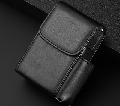 New Black PU Leather Retro Cigarette/Tobacco-Smoke Holder Storage Case Box LK3