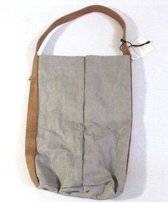 Hearth & Hand with Magnolia Double Wine Carrier Bag Washable Paper Gray Tan