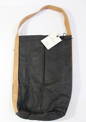 Hearth & Hand with Magnolia Double Wine Carrier Bag Washable Paper Black Tan