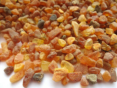 NATURAL RAW  BALTIC AMBER BEADS ( 4 - 10 mm ) 100gr. stones are not drilled