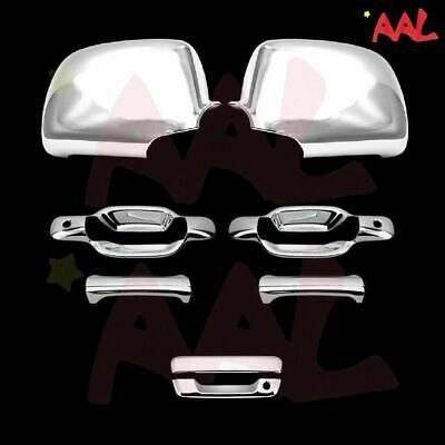 For CHEVY Colorado 2004-2011 2012 Chrome Covers Combo Full Mirrors+4 Doors w//out