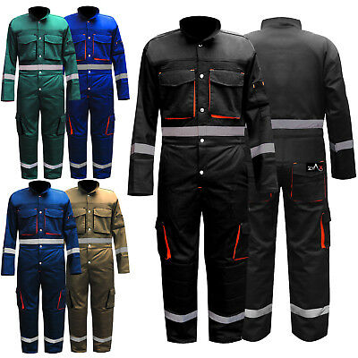 Mens Boiler Suit Overalls Work Wear Mechanics Suit Knee Padded Coverall