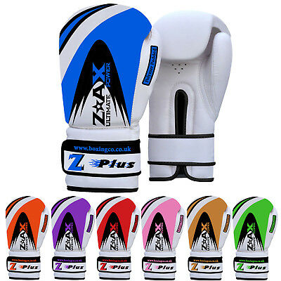 Junior & Adults Leather Boxing Gloves Punch Bag Training 4 OZ to 16 OZ