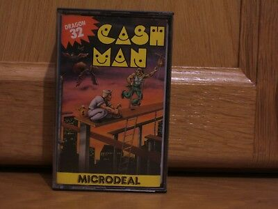 Vintage Dragon 32 Game Cashman by Microdeal & Cassette 50 **Double**