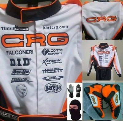 CRG EMBROIDERED GO KARTRACING SUIT CIK FIA LEVEL II + shoes+gloves+balaclava
