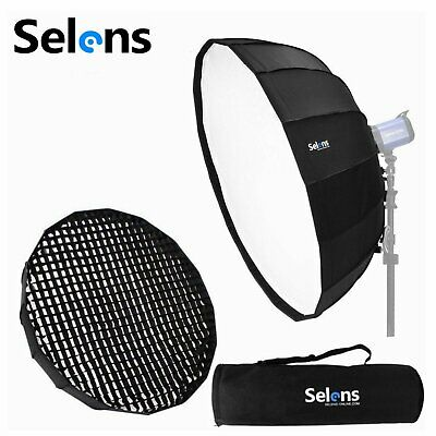 """Selens 65cm 26"""" Foldable Collapsible Beauty Dish Softbox with Honeycomb Grid Bag"""