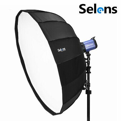 """Selens 85cm 33"""" Collapsible Beauty Dish Softbox Bowens Mount for Studio Lighting"""