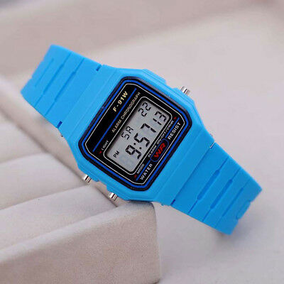 F-91W LCD Digital Wristwatch Electronic Sport Movement Alarm Watch Acc Gift Hot