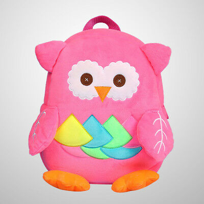 1pc Toddlers Backpack Plush Mini Cartoon Owl School Bags for Kids Age 2-4 Years