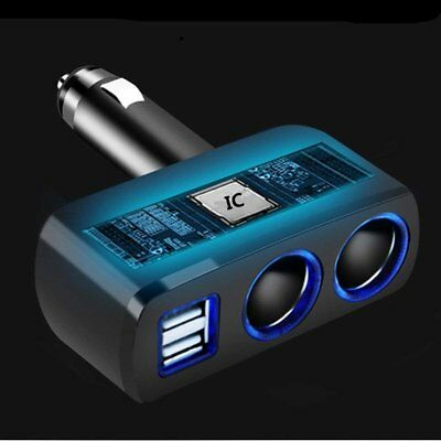 Dual USB Port 2 Way Car Cigarette Lighter Socket Splitter Charger Adapter DC 12V