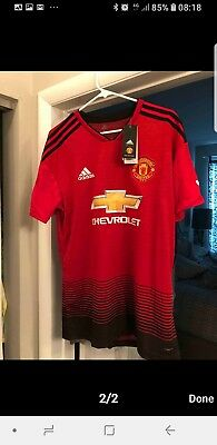 Manchester United Home Shirt 2018/19 - Manchester United Kit - Adult Sizes