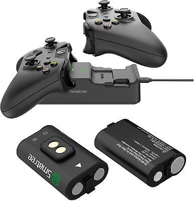 Smatree Dual Charging Station with Rechargeable Battery (2 Pack) for Xbox One