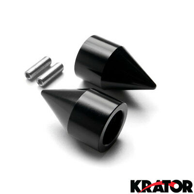 Kawasaki ZX6R ZX7R ZX9R ZX10R ZX12R Spike Black Handlebar Bar End Weight Sliders